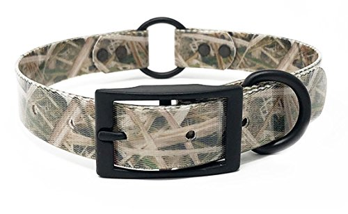 Camo Waterproof Hunting Dog Collar with Heavy Duty Center Ring | for Small, Medium, Large, or XL Dogs