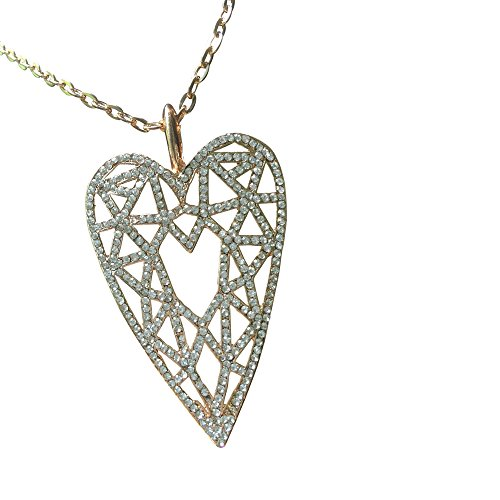 Bling Heart of Gold Charm Pendant Necklace in a Gift Box [BLACK FRIDAY - Friday In Black Sale