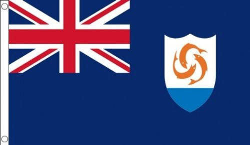 3x5 Anguilla Flag British Territory Banner Caribbean Island -