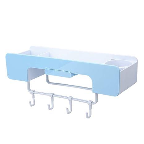 YHDD Estante para Baño, Baño Sin Perforaciones, Inodoro ...