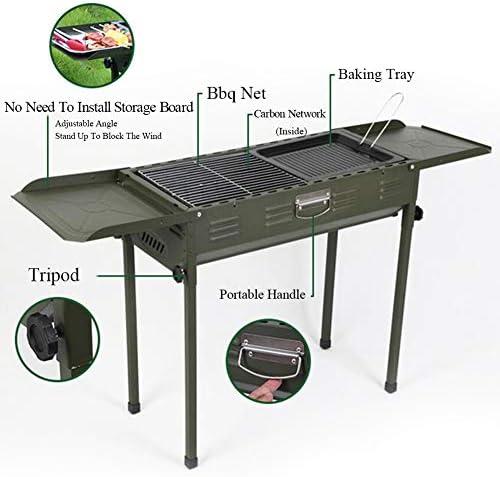 JKJ Barbecue au Charbon de Bois, Barbecue extérieur, Barbecue Portable Pliable, Facile à Installer et à Stocker, pour Camping Picnic Outdoor Garden Party