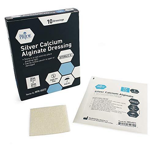 Absorbent Calcium Alginate Dressing - Medpride Silver Calcium Alginate Wound Dressing Pads| 2