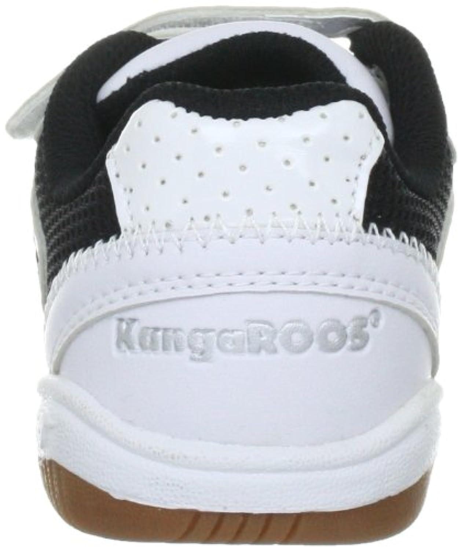 KangaROOS 10704 Backyard Children's Trainers Blanc (White/Black/Silver) 1 UK
