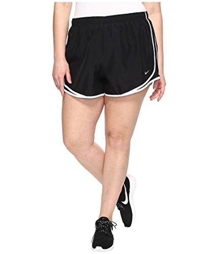 Nike Dry Tempo 3 Running Short Size 2X Black/Black/White/Wolf Grey Womens Shorts - Nike Tempo Track Short