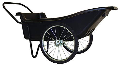 Polar Trailer 8376 Utility Cart, 60 x 27 x 32-Inch 400 Lbs Load Capacity 10 Cubic Feet Tub Spoked-Wheel Tires Rugged Hauling Design, Black