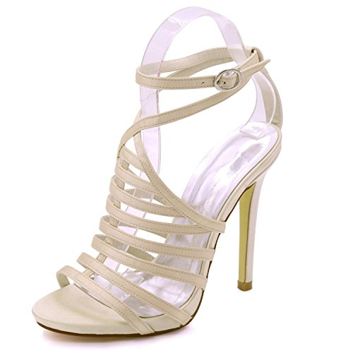 à Taille à 3 L Hauts 8 Summer d'honneur Court Grande Shoes Demoiselle Ouvert Bout YC Champagne Femmes Sandales Party pour Talons Multicolore cqRRSgf