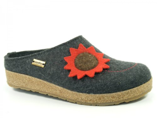 womens Grau Grizzly 731048 Nelly Haflinger Slippers n7Ax0W4qvq