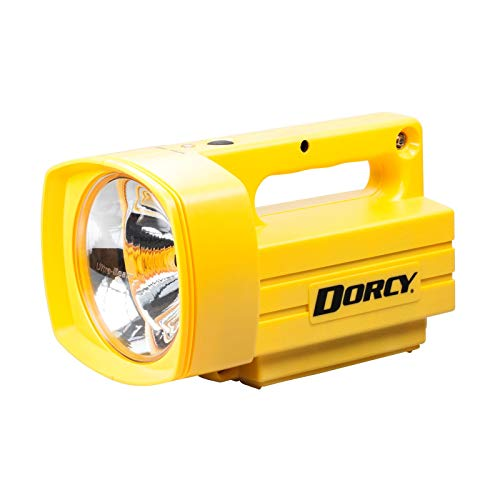 (Dorcy Pro Series 300-Lumen Weather Resistant Rechargeable Outdoor LED Lantern with AC Adaptor, Yellow)