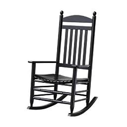 Bradley Black Slat Patio Rocking Chair (Standard, black)