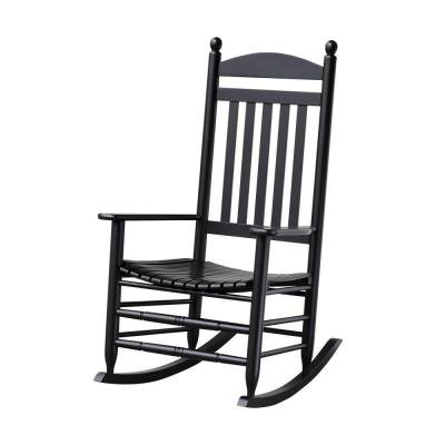 Bradley Black Slat Patio Rocking Chair (Black Outdoor Rocking Chair compare prices)