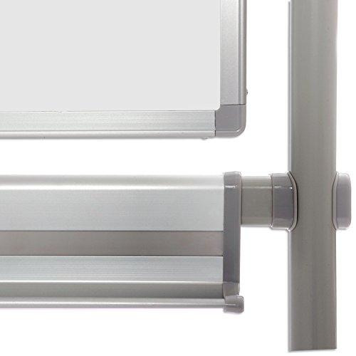 surface laqu/ée aimant/ée tailles diverses 80x110cm Tableau blanc Master of Boards/® Mobile PRO avec roulettes rotatif effa/çable et inscriptible