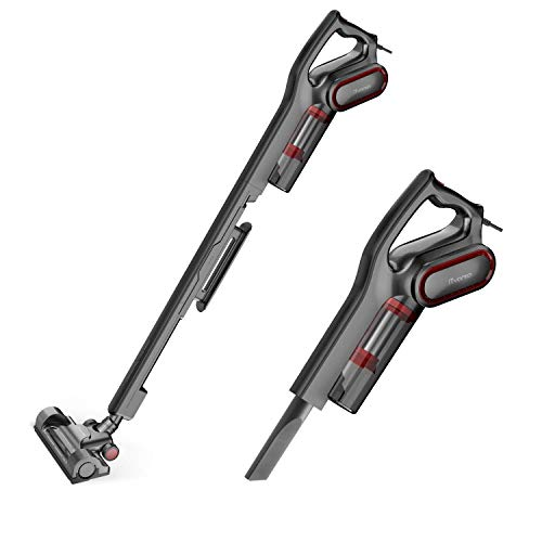 iTvanila Vacuum Cleaner, Stick Bagless Vacuum Cleaner, 2 in 1 15KPa 600W Upright Handheld Vacuum, Corded Pet Hepa Vacuum Cleaner for Hard Floor Cleaning