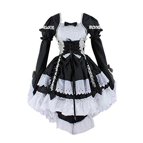 Qianle Japan Cosplay Women Evening Party Dress Costume Lolita Gothic Dress