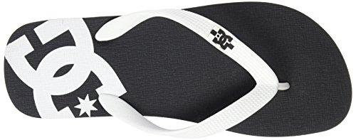 Dc Spray Flip Flops - Svart / Hvit / Sort Uk 8