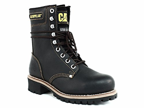 "Caterpillar Logger 9"" Steel Toe - Men's Work Boot - Black"