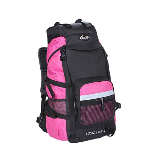 78b7af842b3c7 Outdoor Local Lion Outdoor Lightweight Camping Backpacking Hiking Travel  Mountaineering Rucksack 55L Pink 50x24x35cm