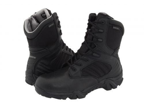 Bates Footwear(ベイツ) メンズ 男性用 シューズ 靴 ブーツ 安全靴 ワーカーブーツ GX-8 GORE-TEX(R) Side-Zip Boot Black [並行輸入品] B07DNMTMB1 8.5 D Medium