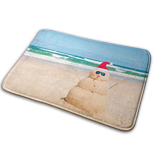 Jingclor Welcome Doormat, Entrance Floor Mat Rug Indoor Outdoor Front Door Mat with Non-Slip Rubber Backing, Printing Doormats with Summer Australia Beach Snowman, -
