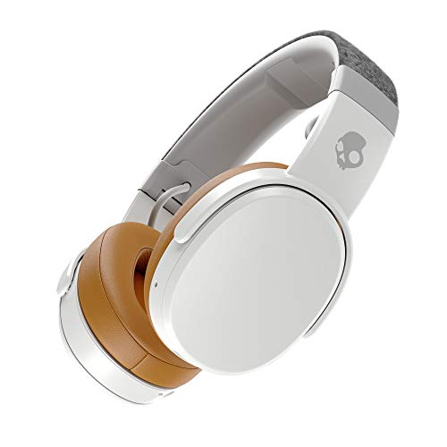 Skullcandy Crusher Bluetooth Wireless Over-Ear Headphone with Microphone, Noise Isolating Memory Foam, Adjustable and Immersive Stereo Haptic Bass, Rapid Charge 40-Hour Battery Life, Gray/Tan