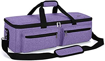 Luxja Double-Layer Bag Compatible with Cricut Explore Air (Air2) and Maker, Carrying Bag Compatible with Cricut Die-Cut...