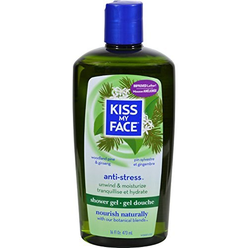 Shower and Bath Gel-Anti Stress Kiss My Face 16 oz Liquid