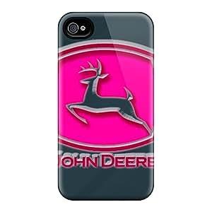 Anti-Scratch Hard Phone Covers For Iphone 4/4s With Custom HD John Deere Pink Series ErleneRobinson