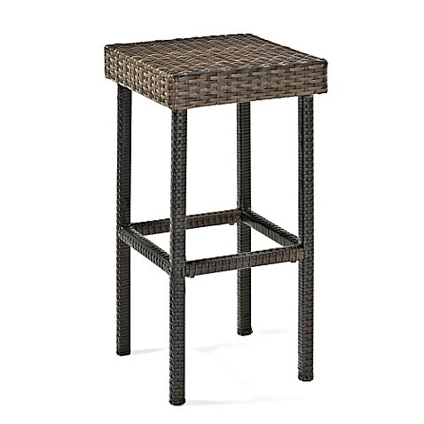 Crosley CO7107-BR Palm Harbor Outdoor Wicker Counter Height Stool (Set of 2), 29'', Brown by Crosley