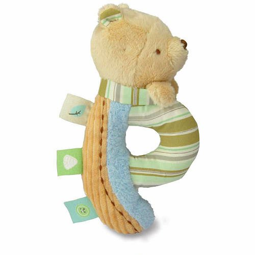 Classic Pooh Plush Letter Baby Rattle - Winnie the Pooh kidsPreferred