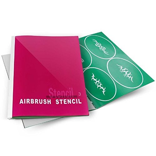 Airbrush Tattoo Stencils Book- Reuseable Tattoo Template Set (1-5_ - Template Airbrush 1