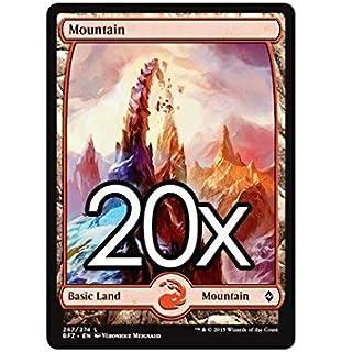 20 Battle for Zendikar Mountain # 269 MTG Basic Full Art Land Lot Magic
