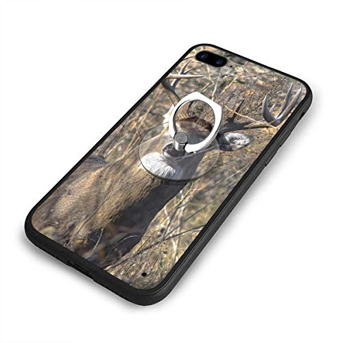 Whitetail Ring - Whitetail Deer iPhone 7/8 Plus Case Cover with 360 Rotating Ring Grip/Stand Holder/Kickstand for iPhone 7/8 Plus iPhone 6/6S Plus