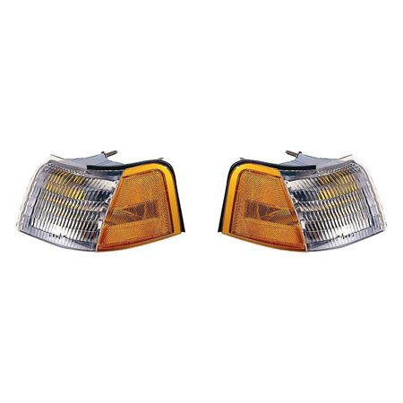 Fits Ford Thunderbird/Mercury Cougar 1989-1995 Parking Signal Pair Driver and Passenger Side Unit Pair Driver and Passenger Side FO2520113, (Thunderbird Drivers Side Parking Light)