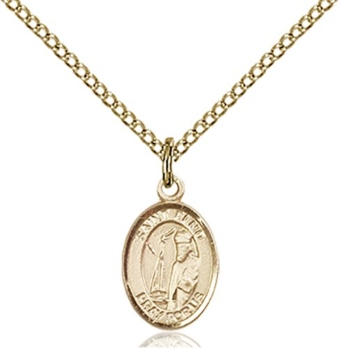 Patron Saints by Bliss 14K Gold Filled Saint Elmo Petite Charm Medal, 1/2 Inch (Medal St Elmo)