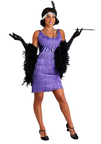 Plus Size Purple Fringe Flapper Dress 3X ()