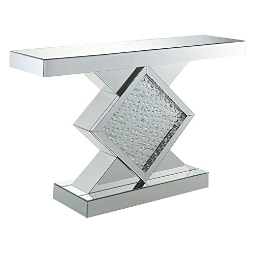 ACME Furniture 90068 Nysa Console Table, Mirrored