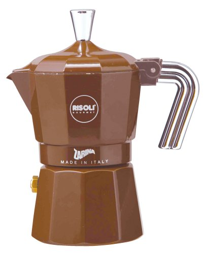 ZARINA (Zarina) espresso maker 3cup for Brown RZ-3MT (japan import) by RISOLI (Rizori)