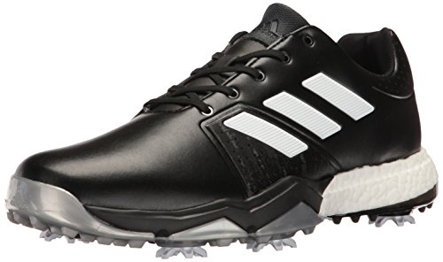 r Boost 3 Golf Shoe, Black/White/Silver Metallic, 10.5 M US ()