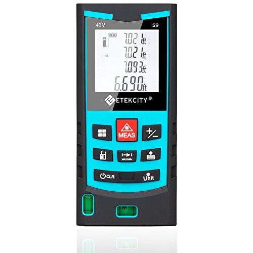 Etekcity S9 Layout-Smart Class II Laser Distance Measurer, Bubble Level, 130-Feet (Green) (Certified Refurbished)