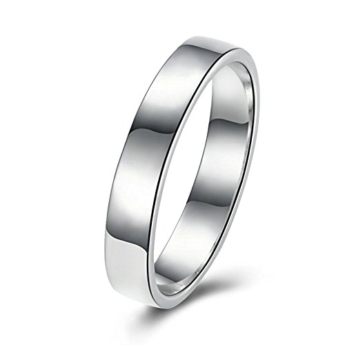 - AMDXD Jewelry Gold Plated Wedding Rings for Men White High Polished Size 9