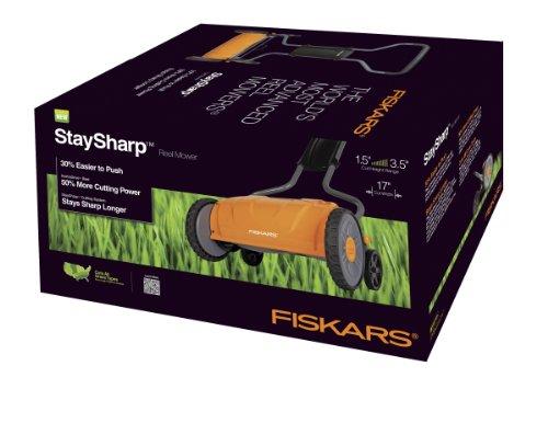 046561162085 - Fiskars 17 Inch Staysharp Push Reel Lawn Mower (6208) carousel main 4