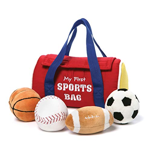 GUND Baby My First Sports Bag Stuffed Plush Playset 5 Piece 8quot