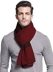 Men's Winter Cashmere Feel Australian Merino Wool Soft Warm Knit Scarf Gift