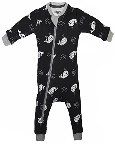 ZippyJamz Organic Baby Footless PJS w/Inseam Zipper