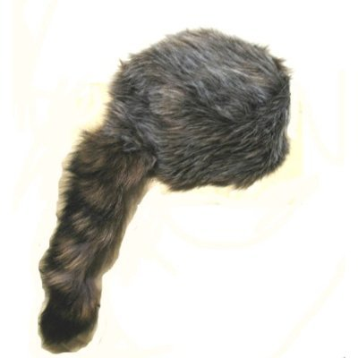 Davvy Crockett Racoon Tail Hat (Racoon Tail)