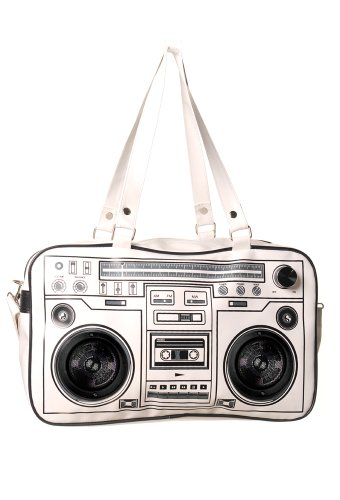 Price comparison product image Banned Radio Speaker Shoulder Bag - White / One Size