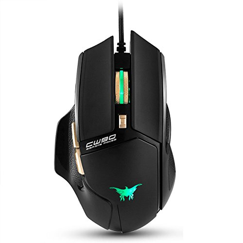 Combaterwing CW90 3800 DPI Wired Gaming Mouse, 6 Buttons