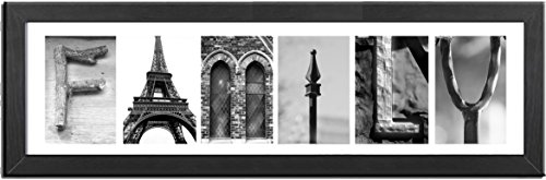 Imagine Letters 6-Opening, White Matted Black Photo Colla...