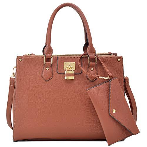 Tote Purse Satchel - Women's Fashion Handbags Tote Purses Shoulder Bags Top Handle Satchel Purse Set 2pcs