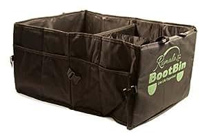 "BootBin Car Trunk Organizer and Storage| Trunk Organizer for Cars, SUVs, Vans and Trucks| Large Car Trunk Storage| 21""x15""x10""| Black Rumala & Co"