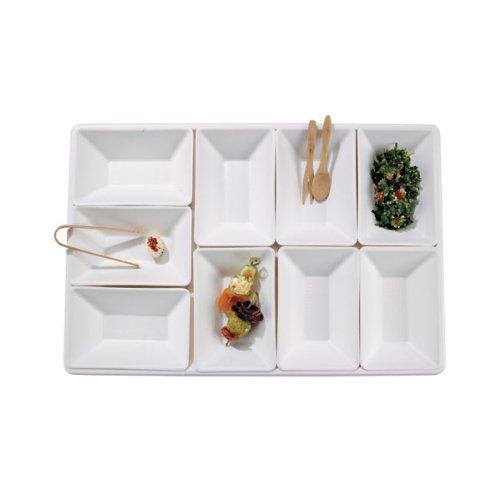 "Packnwood Eco-Design Sugarcane Compartment Tray, 15.75"" x..."